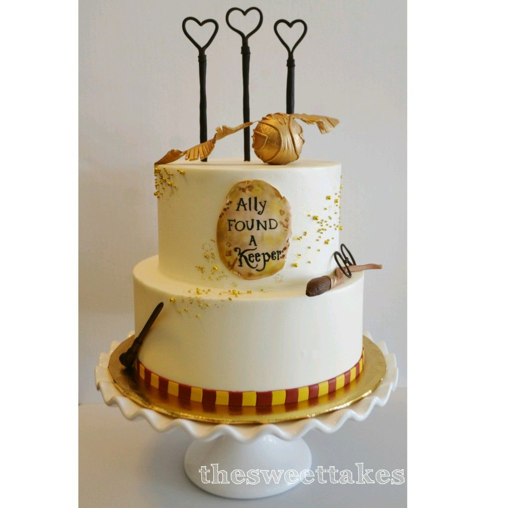 68c64eefb121 Harry Potter Bridal Shower Cake