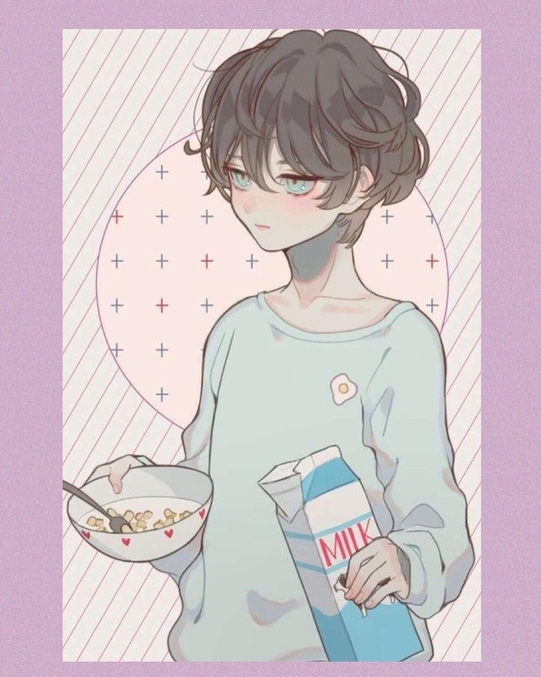 Spacer Notmywork Tumblrart Art Kawaiiboy Cerealandmilk Kawaii Anime Drawings Boy Cute Anime Boy Anime Boy
