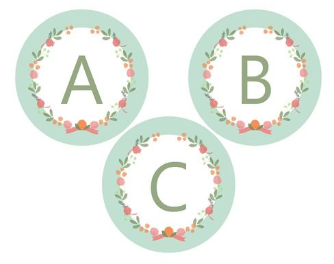 Anthropologie Inspired Botanical Banner Free Printable