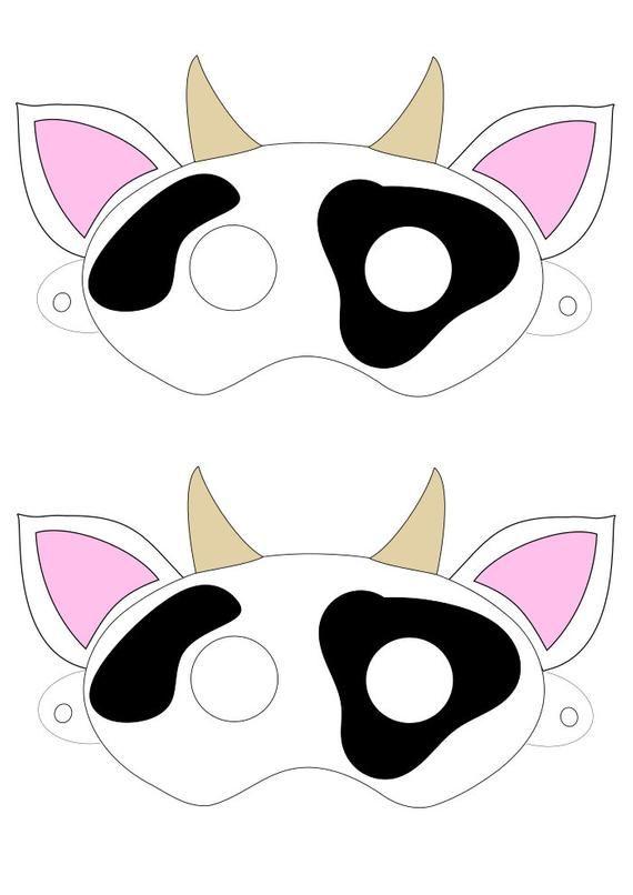 photograph regarding Cow Mask Printable Pdf known as Electronic Obtain Cow Mask Printable SVG Vector History