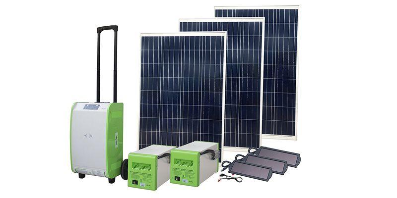 Nature Power Solar Generator Kit Portable Off Grid Jobsite Event Green Power Expandabl Portable Solar Generator Solar Generator Solar Energy Panels
