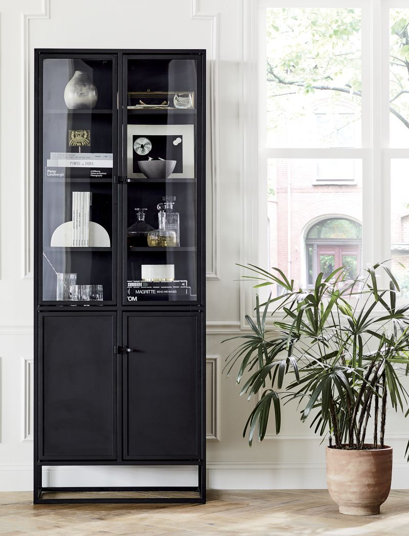Casement Black Tall Cabinet In 2020 Dining Room Cabinet Living Room Display Cabinet Glass Kitchen Cabinets #tall #living #room #storage #cabinets
