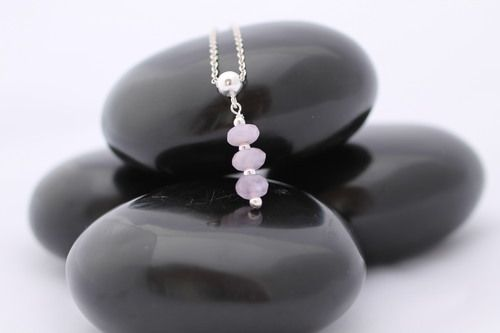 'Alice' Faceted Amethyst pendant. Classic necklace with a delicate silver chain, the perfect gift for a woman.