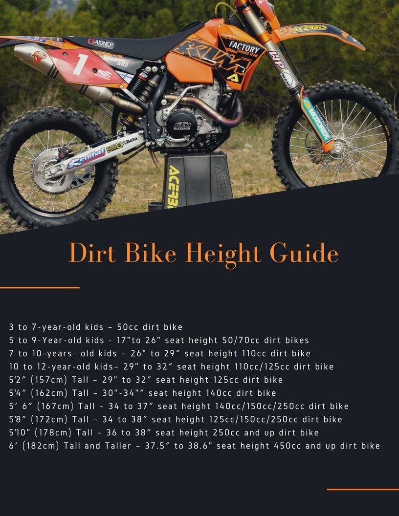 Dirt Bike Sizing Chart Interactive Guide 2019 Dirt Bike Bike