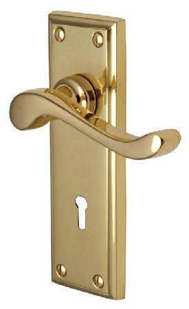 m marcus heritage w3200 edwardian brass lever lock door polished