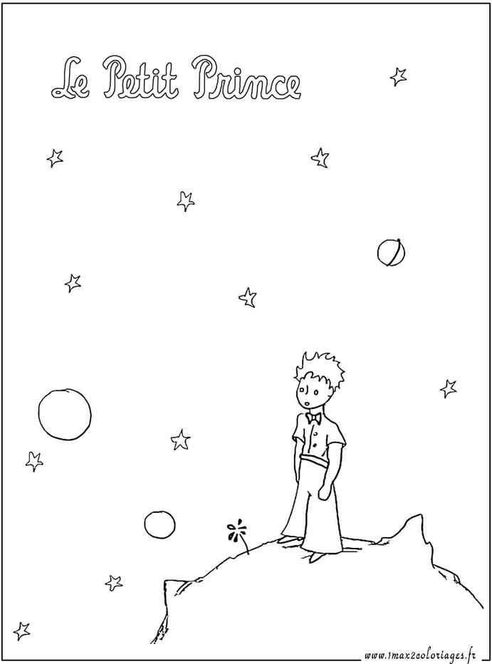 Coloriages Le Petit Prince sur la planète | Тату | Pinterest ...
