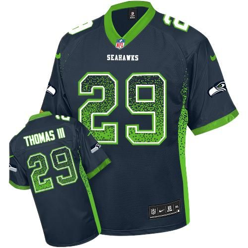 89a88c21a Nike Seahawks Richard Sherman Steel Blue Team Color Youth Stitched NFL  Elite Drift Fashion Jersey And NFL Jerseys
