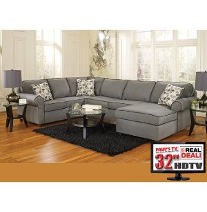 Art Van Harper Collection in Grey 8 piece living room package with