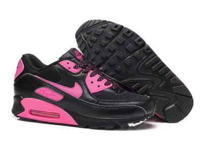 Billige Nike Air Max 90 for Salg Rosa Svart   Nike air max
