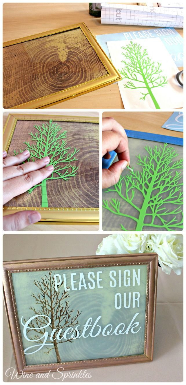 Wedding decorations near me october 2018 Frosted Glass Guestbook Sign in   Diy craft  Pinterest