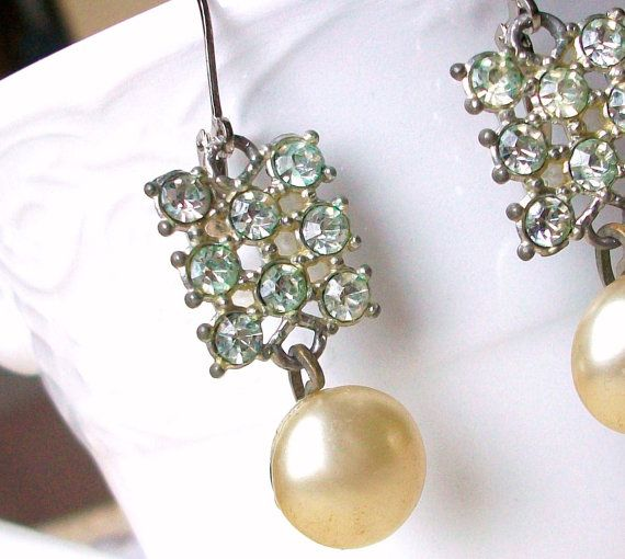 RePurposed Vintage Jewelry Earrings /// Free US by stephsjewels4, $18.00