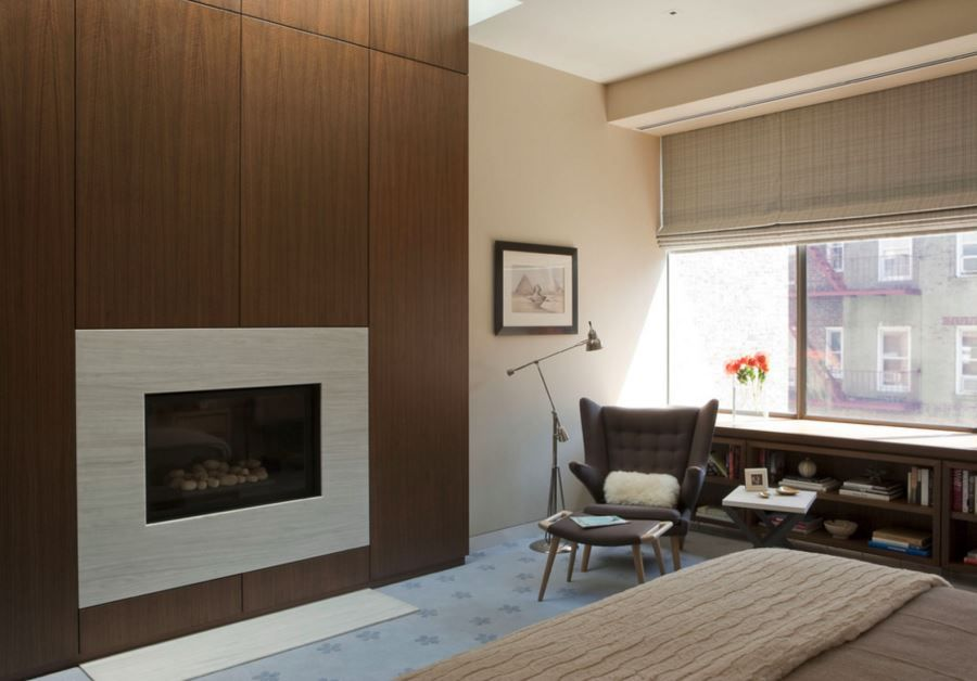 20 Rooms With Modern Wood Paneling Remodel Bedroom Modern Fireplace Fireplace Surrounds