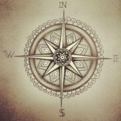 Compass Mandala Tattoo Tattoos Tatouage Tattoo Boussole Rose