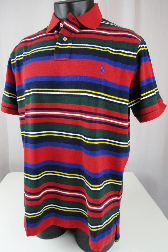 6b857c6df NWT Polo Ralph Lauren Mens XL Rugby Shirt SS Red Striped Custom Fit 100%  Cotton #PoloRalphLauren #PoloRugby