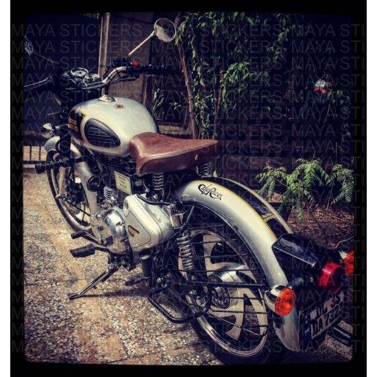 Royal Enfield Classic Stickering Mudguard Modification Maya - Classic motorcycle custom stickers