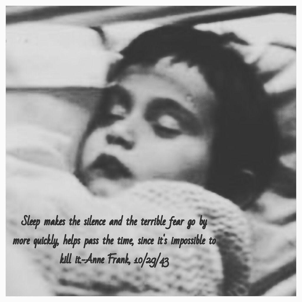 Cute Anne Frank Sleeps