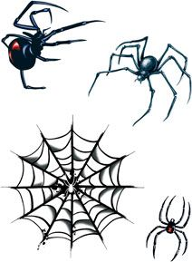 Sheet Of Spiders And Web Halloween Costume Makeup Temporary Tattoo,$1.65