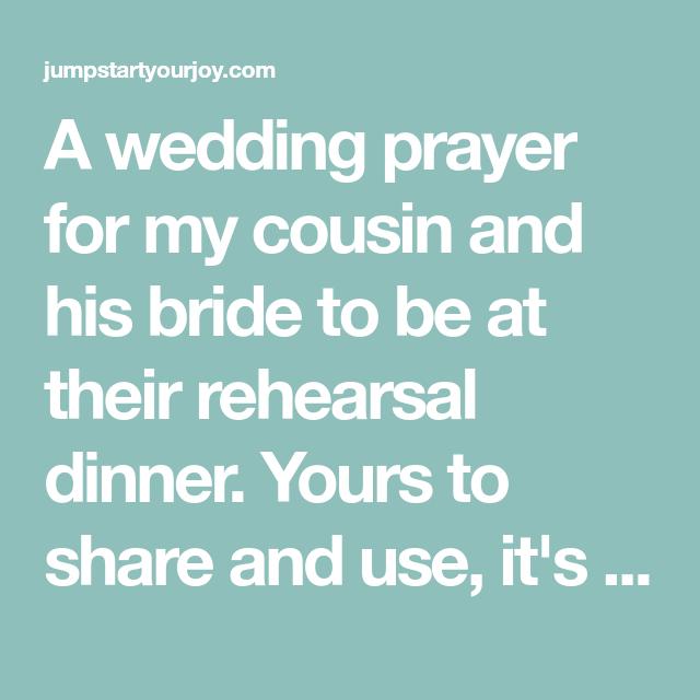 A Wedding Prayer Wedding Prayer Dinner Prayer Prayers