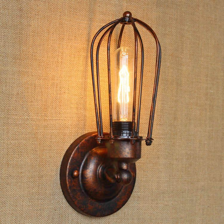 Black Wall Sconce With Switch