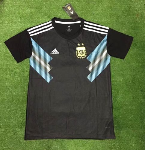 71feea87c 2018 World Cup Argentina Away Black Thailand Soccer Jersey AAA ...
