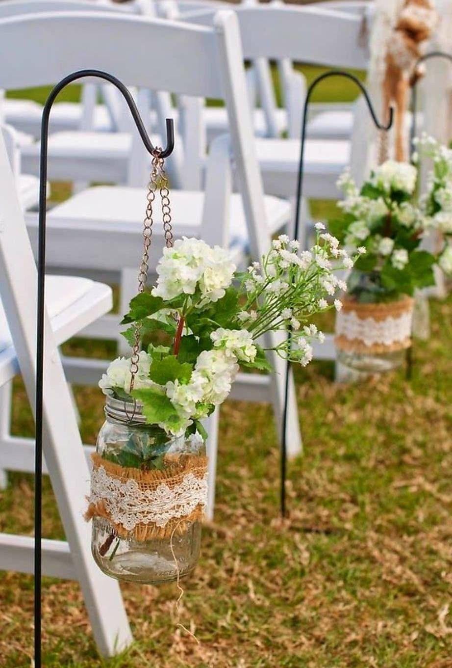 36 The Most Romantic Burlap Wedding Decoration Ideas Amaze Paperie Wedding Aisle Outdoor Wedding Aisle Decorations Rustic Burlap Wedding