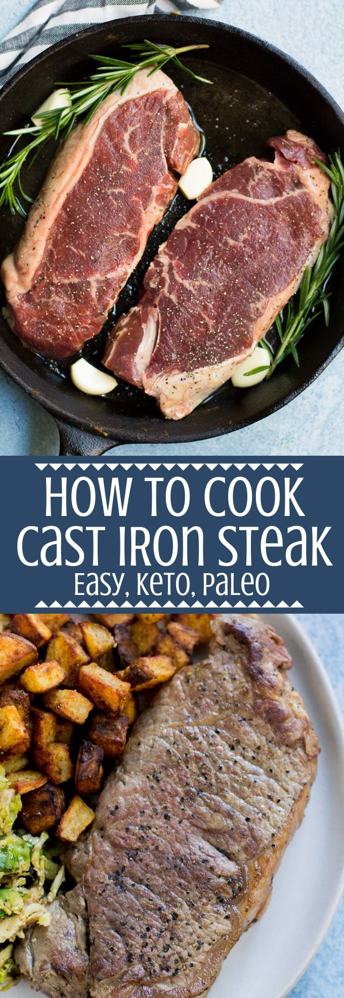 Cast Iron Steak | Recipe | Cast iron steak, Cooking the ...
