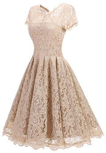 3ac86a8588 Retro Floral Lace Prom Dresses Short Homecoming Dresses Cap Sleeves Vintage  Cocktail Bridesmaid Dresses