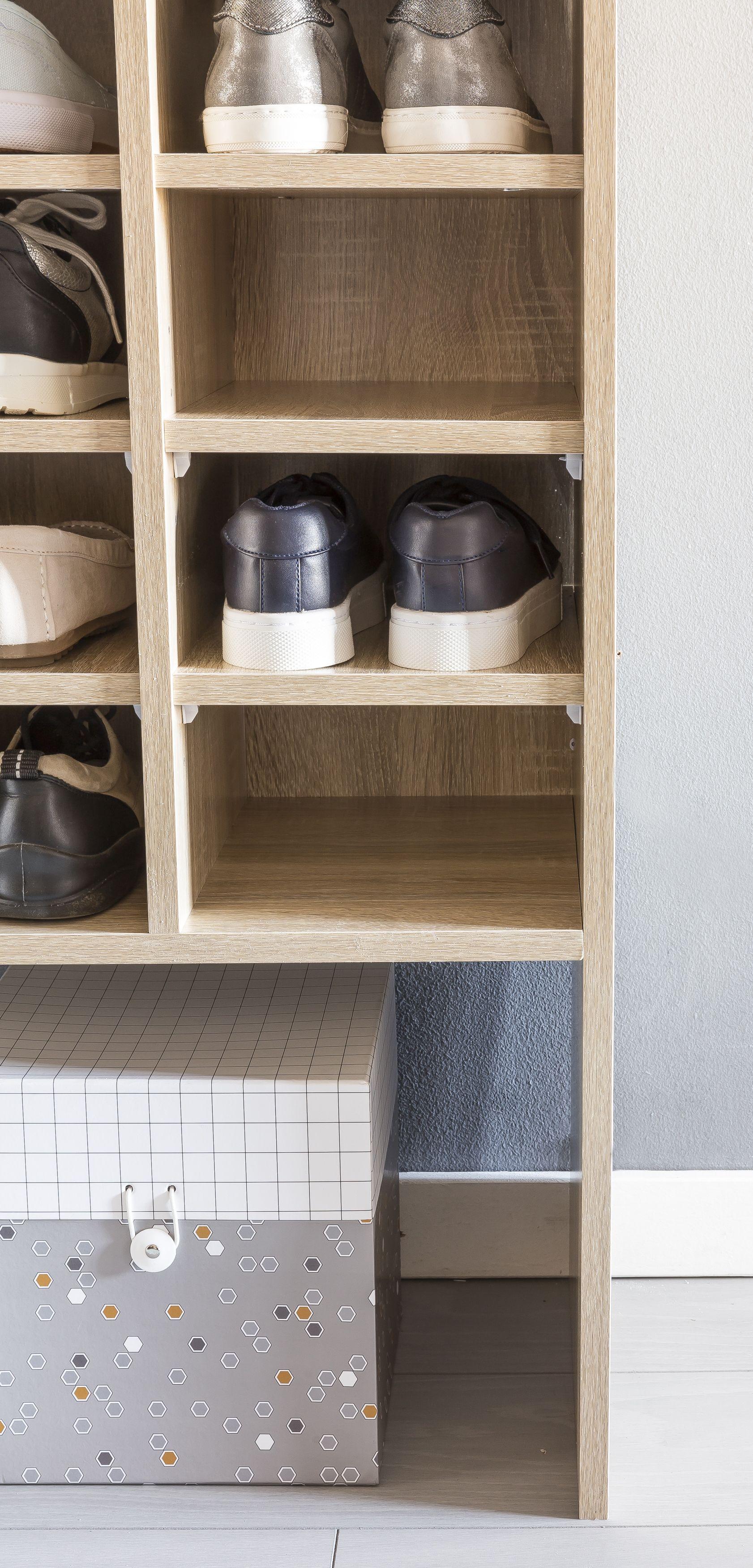 Wohnling Schuhschrank Danny Sonoma WL5 260 aus Spanplatte Schuhe