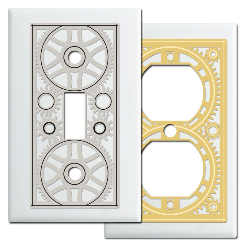 Steampunk Switch Plates Outlet Covers Switch Plates
