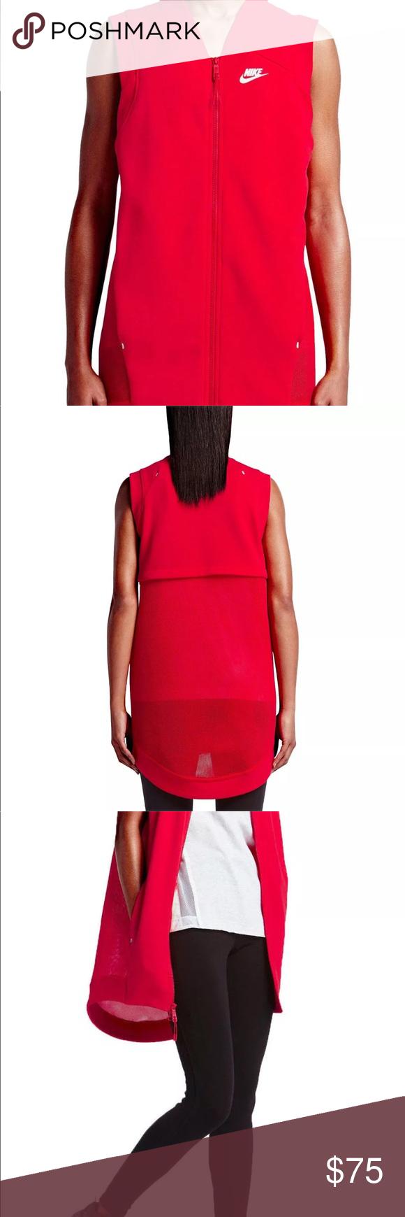 Nike Women's Tech Fleece Cocoon Mesh Full Zip Vest Keep