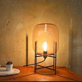 Lampadaire Oda Big verre fumé gris H140cm