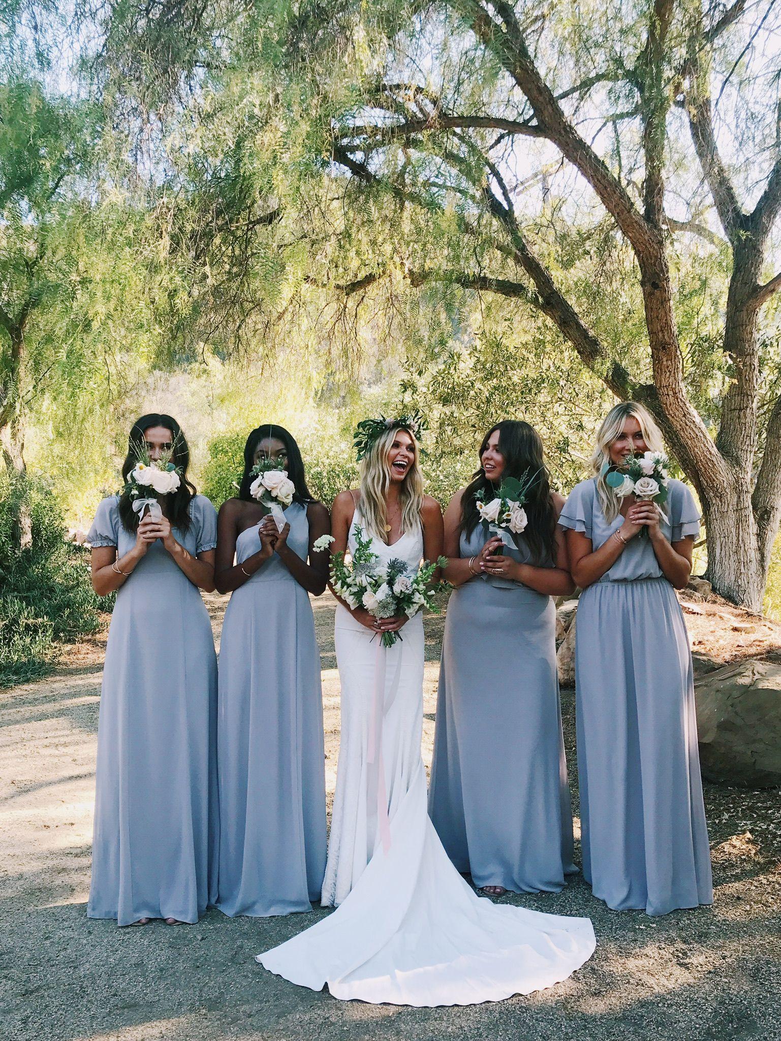 Show Me Your Mumu Dove Grey Bridesmaids Dresses Mumuweddings Mumubridesmaids Summer Bridesmaid Dresses Summer Bridesmaids Wedding [ 2049 x 1537 Pixel ]