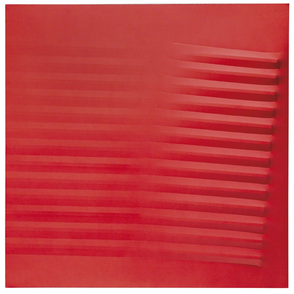 Untitled (Red) | Agostino Bonalumi, Untitled (Red) (1977)