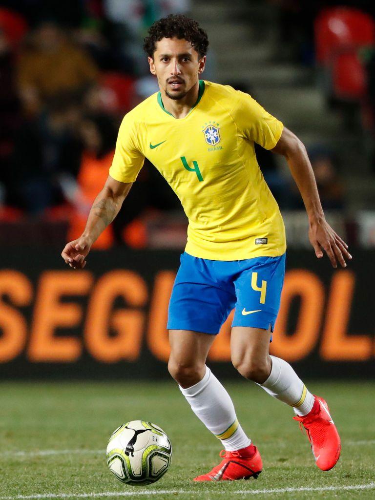 Marquinhos Of Brazil During The International Friendly Match Between Brazil Nike Wallpaper International