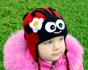 Вязаные крючком детские шапочки Теплая зимняя Шапка кошка ...