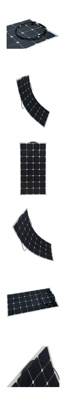 2pcs flexible sunpower semi flexible 18v 100w solar panel charger