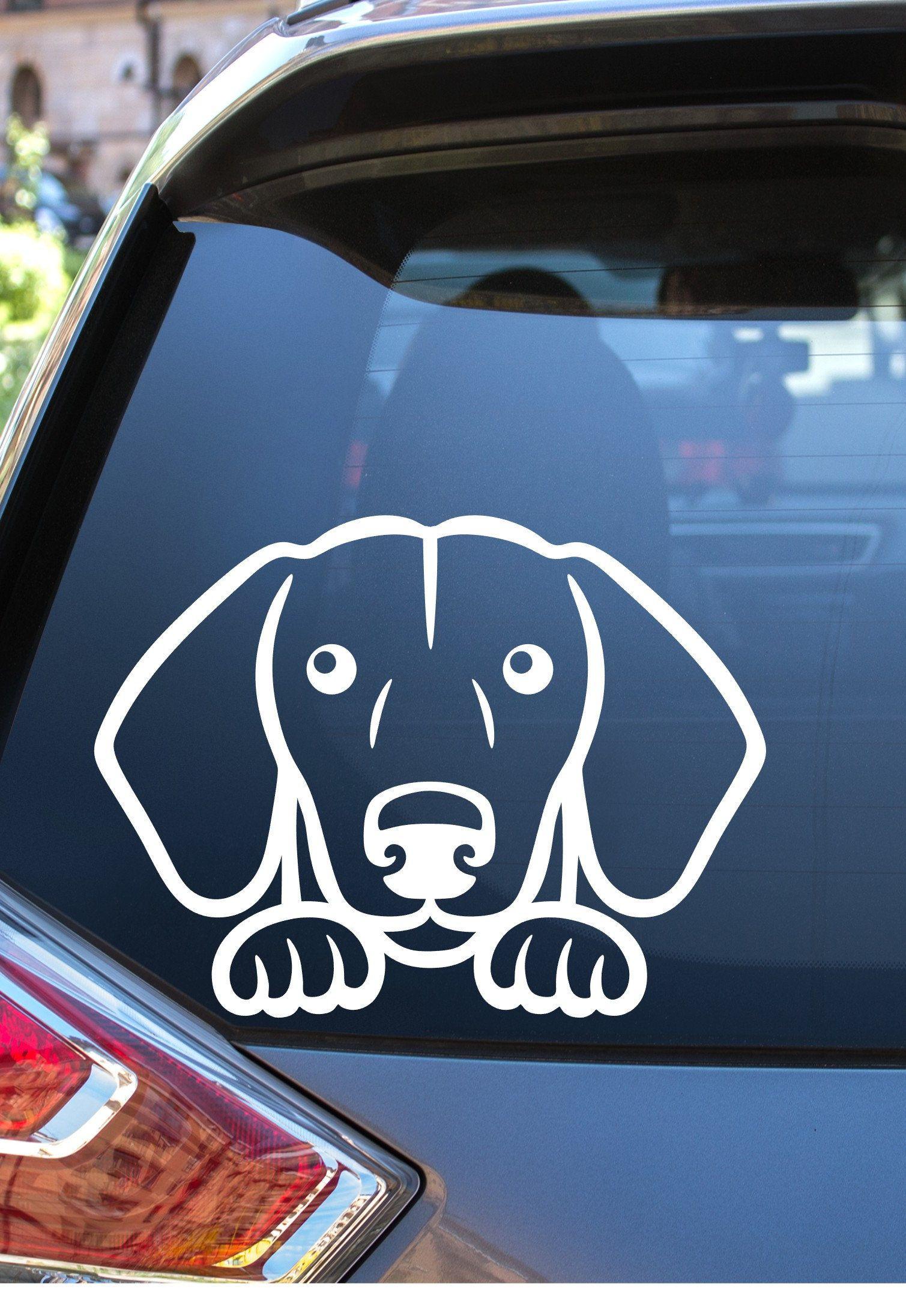 Dachshund Car Peek A Boo Car Decal Dachsund Car Decal Cute Etsy Car Decals Dachshund Dog Car [ 2192 x 1509 Pixel ]