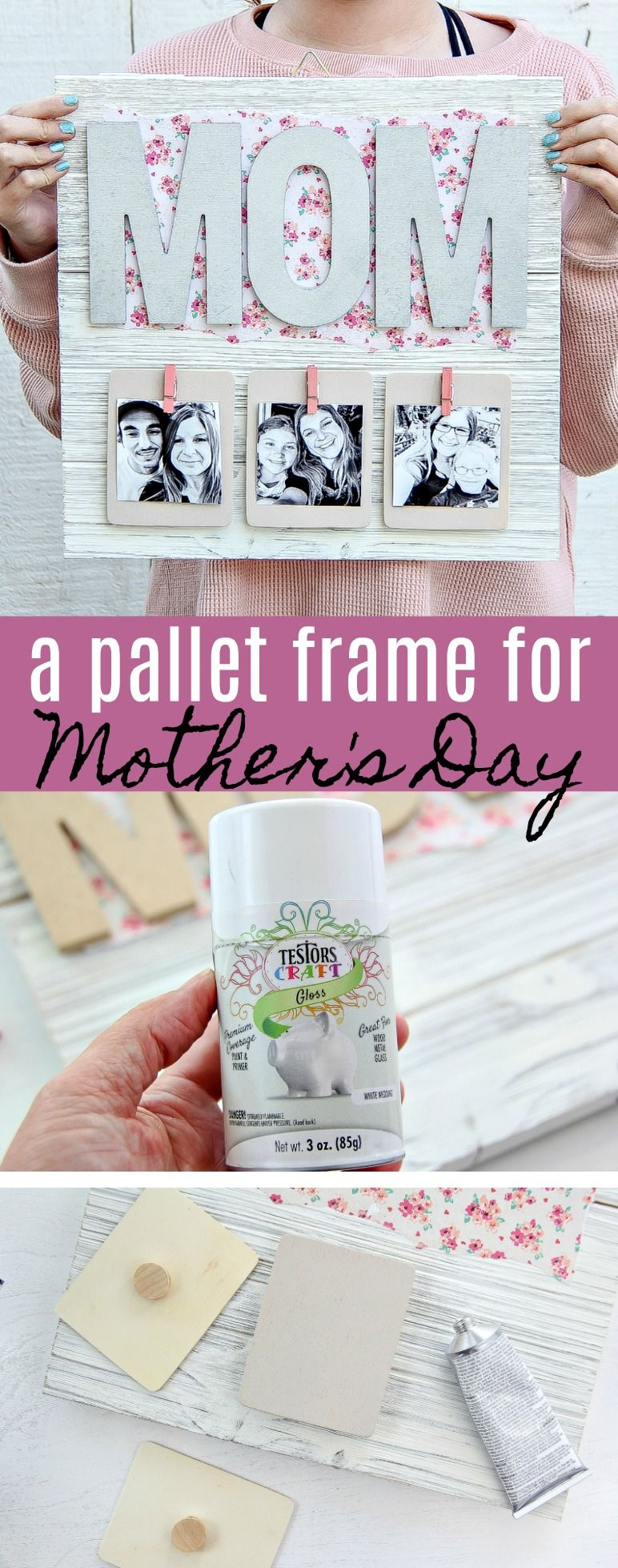 Creative Mother S Day Gift Diy Pallet Picture Frame Diy