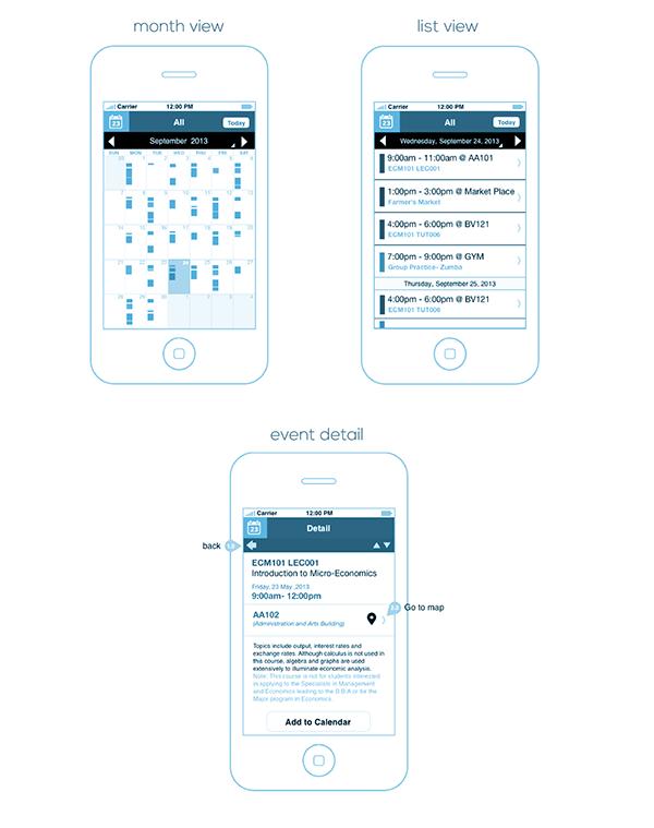 Calendar Timetable Mobile Wireframe On Behance Wireframe Mobile Wireframe Prototype App