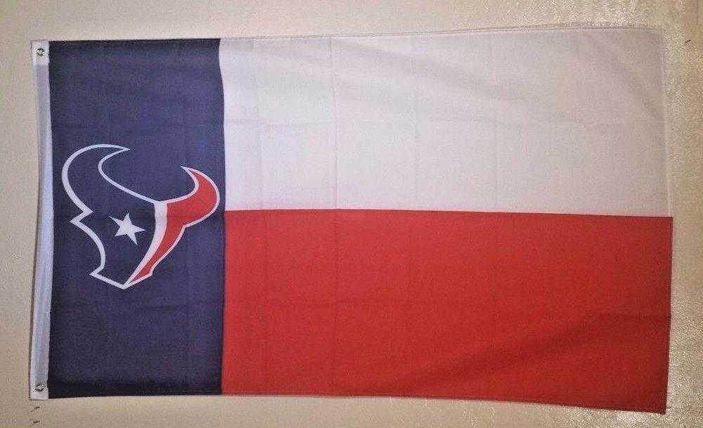 NFL Houston Texans Football Flag Banner 3X5 FT Man Cave Gift FREE SHIPPING!!! #HoustonTexans