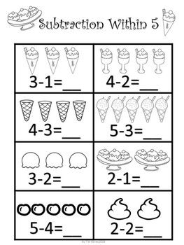 Kindergarten Math Sample Freebie | Kindergarten addition ...