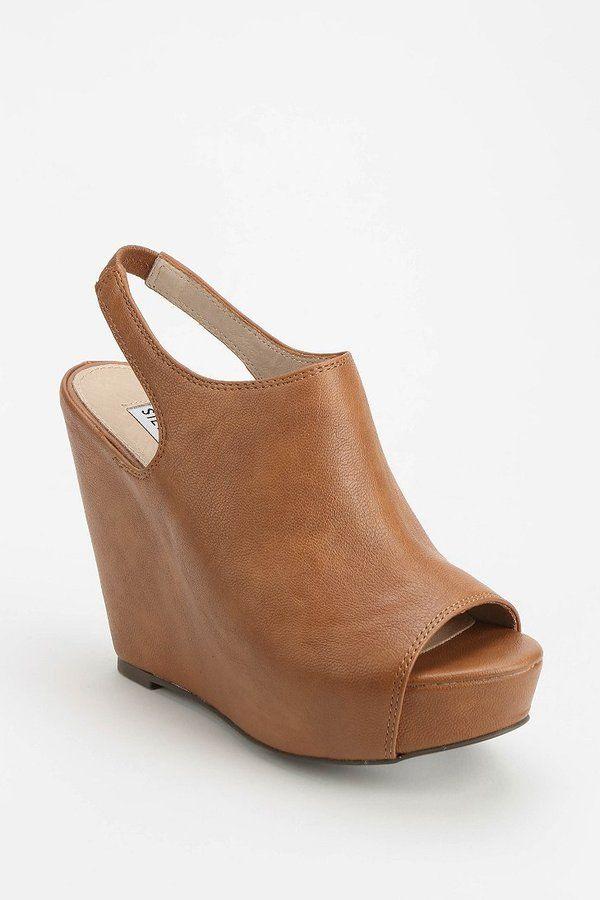 dd1a2aa41d Steve Madden Blassst Peep-Toe Platform Wedge on shopstyle.com | Get ...