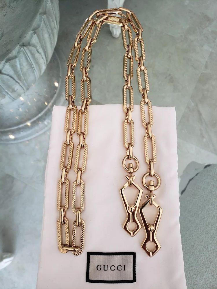 9cb0c2a294 Gucci Handbag Strap Crossbody Gold Chain New Limited Edition Runway #Gucci  #Crossbody