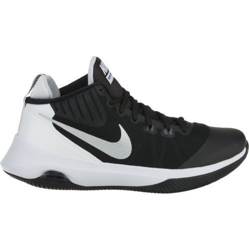 732179d505c0 Nike Women s Air Versatile Basketball Shoes (Black Metallic Silver Dark  Grey