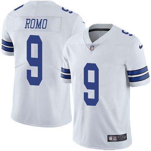 5ef395585 ... Nike Cowboys 9 Tony Romo White Mens Stitched NFL Vapor Untouchable Limited  Jersey Women Nike Dallas ...