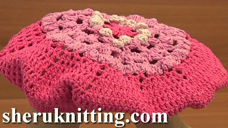 Sheruknittingcom: Crochet Beret Hat Tutorial 7 Part 2 of 2 | YO Baby ...