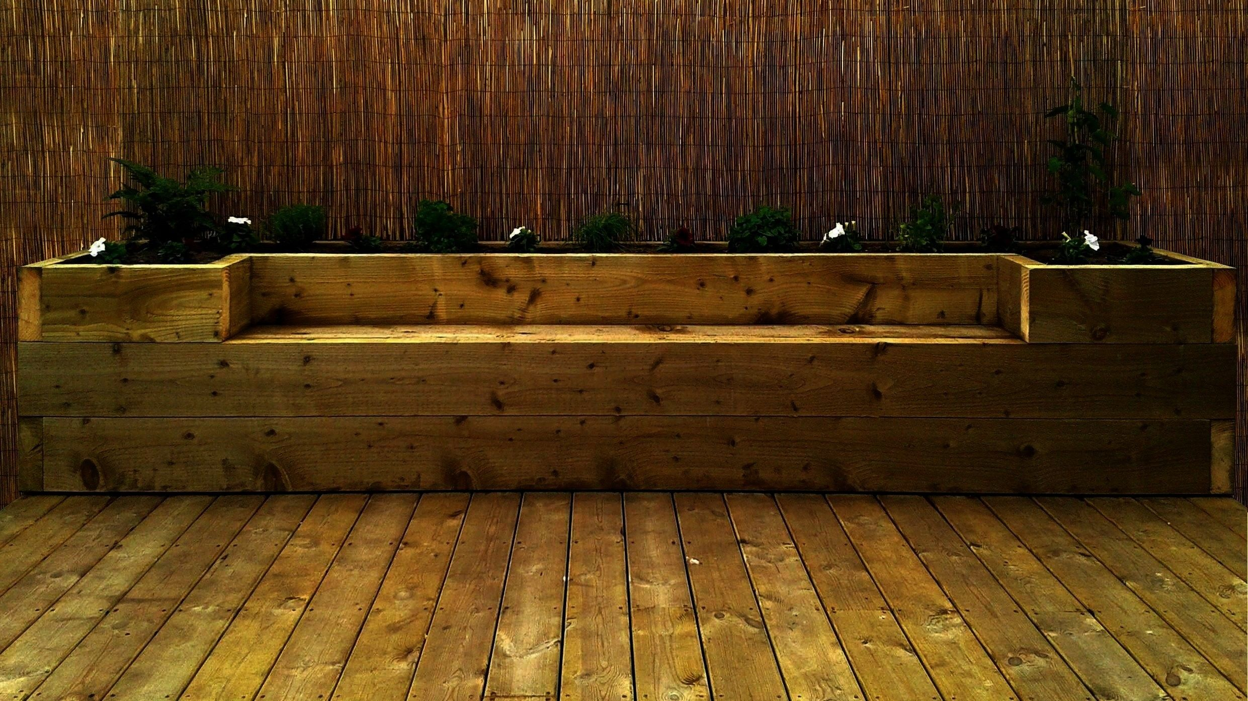bed and seat with sleepers  Google Search  how to make raised garden bed and seat with sleepers  Google Search how to make raised garden bed and seat with sleepers  Googl...