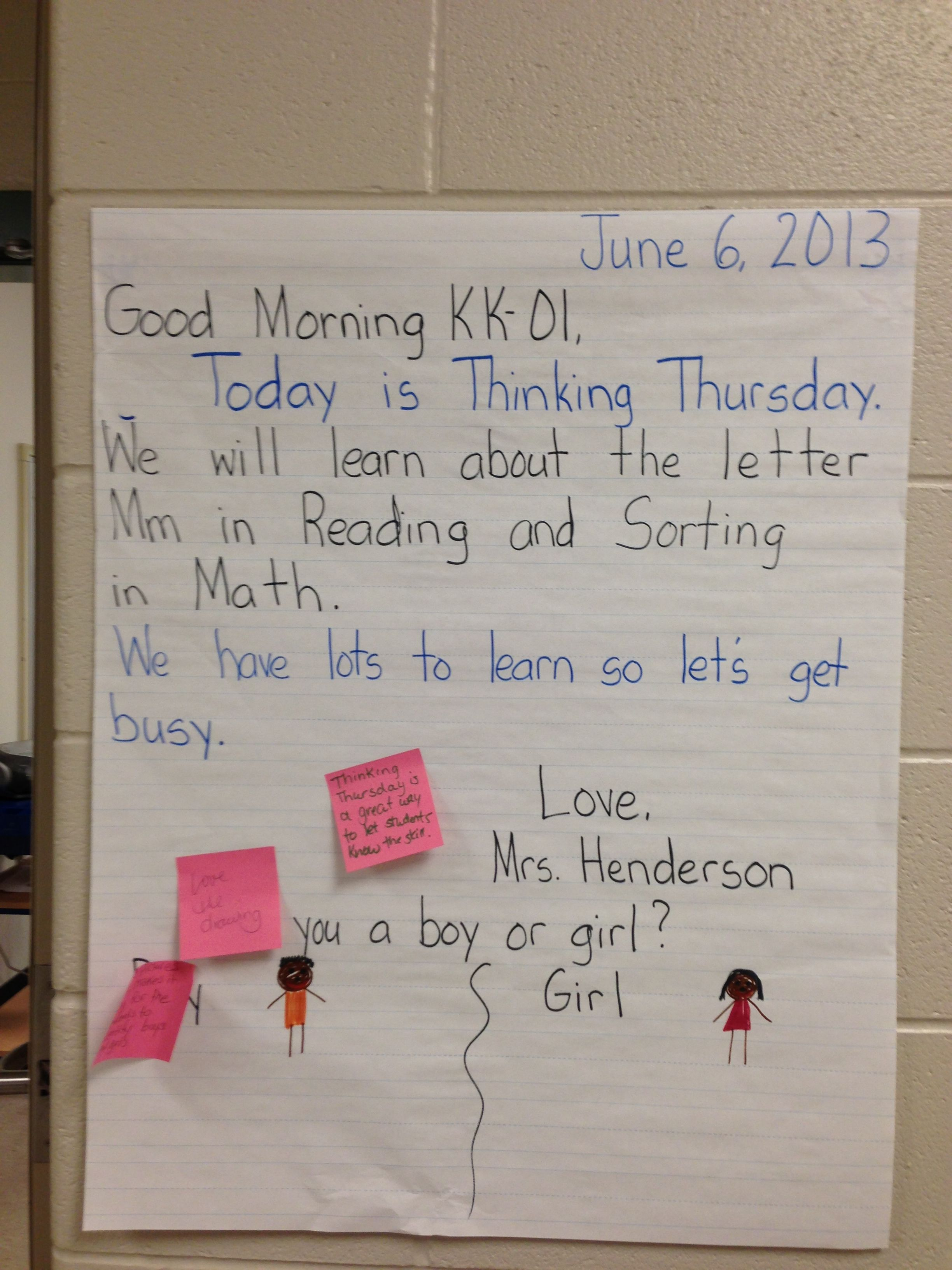 Morning Message Idea