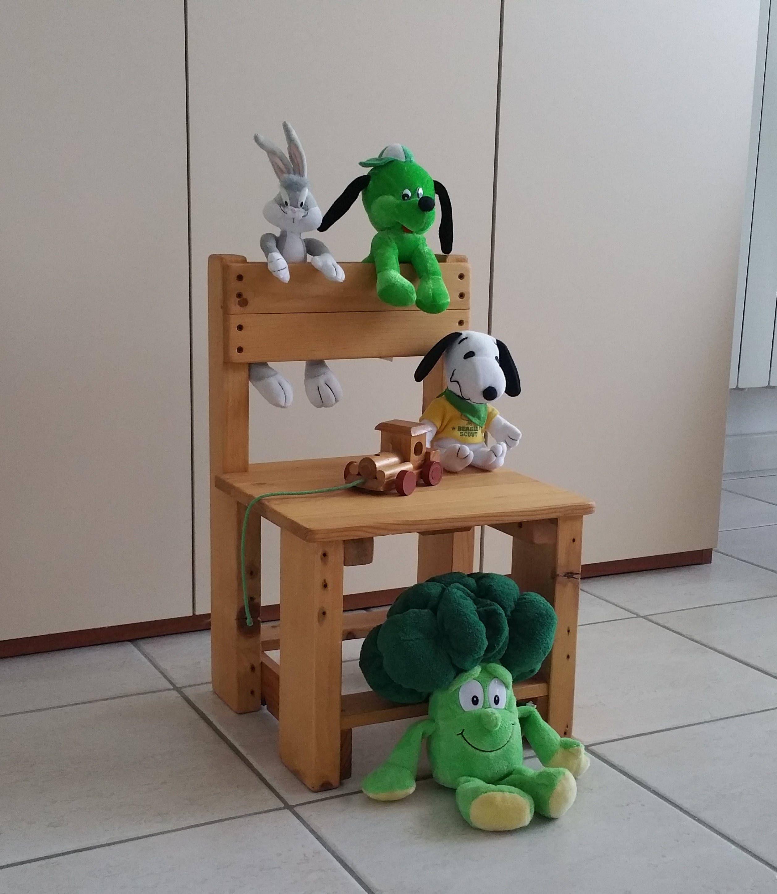 Sedia in legno per bambino Sedia piccola Sedia in legno massello ...