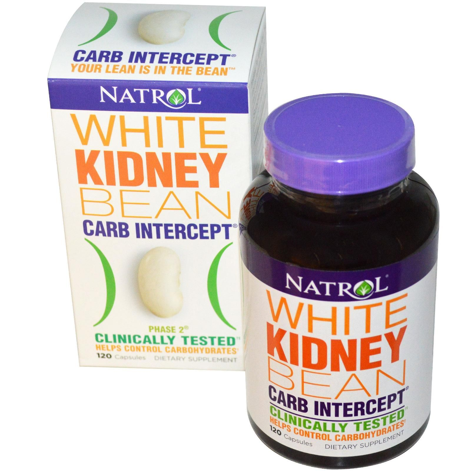 Natrol, Carb Intercept, Phase 2 White Kidney Bean, 120 Capsules - iHerb.com
